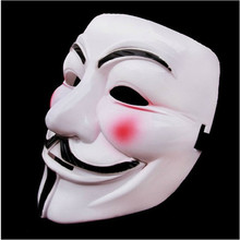 Hot Sales Party Masks 1pcs V for Vendetta Anonymous Guy Fawkes Mask Halloween Cosplay halloween mask #f(China)