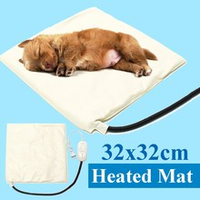 Waterproof Pet Dogs Cat Electric Heating Pad Bed Mat Heater Warmer Mat Blanket House Kennel Accessories Pets Supplies 32x32cm(China)