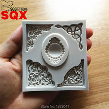 New Arrival 3D lace diamond jewelry Silicone Cake Mold Design Cake Molds for Decoration, Silicone Molds Sugarcraft Tool SQ16234(China)