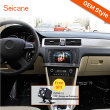 Seicane 7inch HD Touchscreen 2 Din Universal Radio Bluetooth DVD Player GPS Car Stereo for 2012-2013 Skoda RAPID SD Aux IPOD RDS(China)