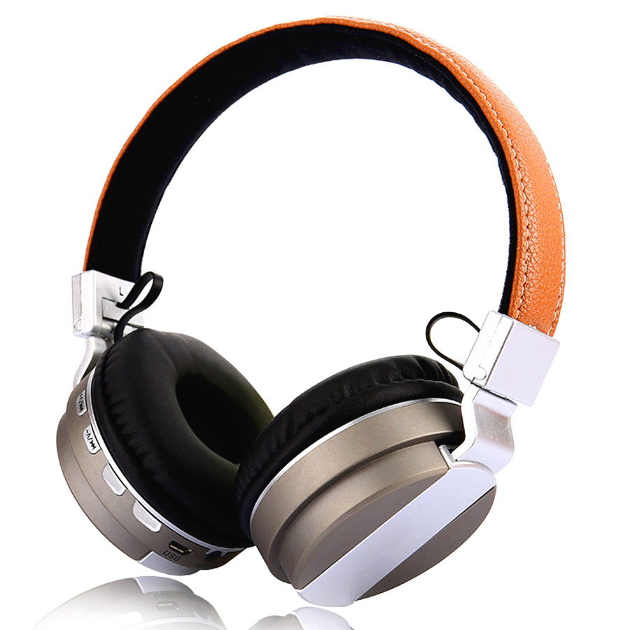 AIPAL Stereo Bluetooth Headphone Support TF Card FM Radio Wireless Headset With Mic HiFi Bass Stereo Headsets For Xiaomi iPhone <br>