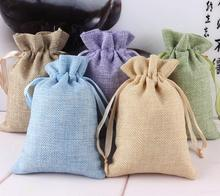 Free shipping 50pcs/Lot Newest Arrival Burlap Favor Bags Vintage Rustic Favor Wedding Candy Bags Linen Gifts Pouch Favor Bags(China)