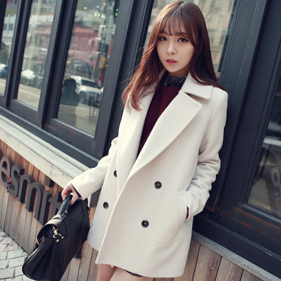2017 Luxury Wool Parkas Winter Women High Quality Fashion Overcoat Long Blends Over Coats Casacos Femininos 4 Colors AvaliableОдежда и ак�е��уары<br><br><br>Aliexpress