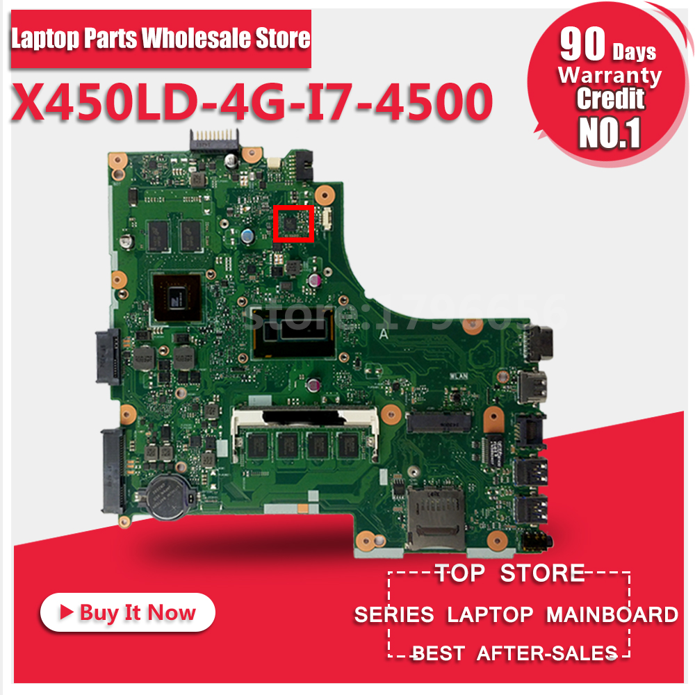ASUS X450LD 4G I7 4500 Laptop Motherboard System Board Main Board Card Logic Board Tested Well Free