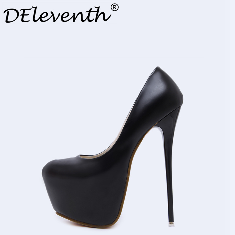 2018 Fashion New Concise Slip-On Pumps Round Toe Ultra High Heels Women Shoes Sexy Bride Wedding Nightclub Party Woman Shoes Red<br>