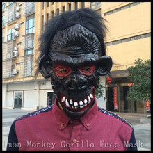 Hot sale Full Face Halloween Props Costumes Dress Carnival Parties Cosplay Black Gorilla Mask Horror Masquerade Adult Ghost Mask