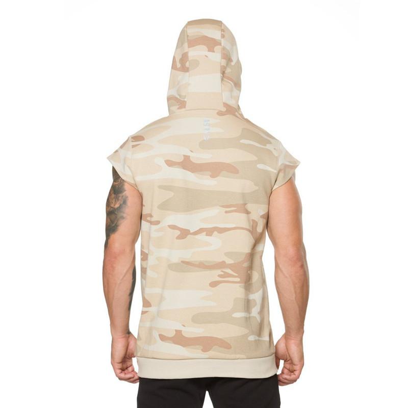 Camouflage fitness Men Sweatshirt-8