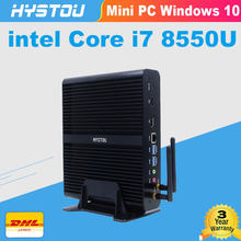 Intel core i7 8550u ddr4 Оперативная память 16 г minipc nuc i7 windows10 Wi-Fi с bluetooth 2,7 ГГц graphics620 usb 3,0 faless mini pc i7 7500U(China)