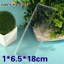 10 pcs/lot1*6.5*18cm clear box / plastic box / PVC boxes / notebook display / gifts & crafts / 100% guarantee / transparent cas