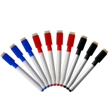 10pcs/set Rewritable Whiteboard Marker Pen Dry Erase White Board Markers Pens With Eraser Cap Office School Student Supplier