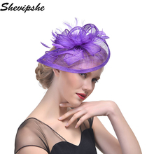Wedding Holiday Fascinator Cocktail Hat Women French Veiling Hair Headband Vintage Hair Clip Lady Party Hair Band Accessories(China)