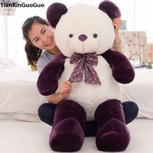 new arrival stuffed plush toy dark purple teddy bear huge 160cm bear doll soft hugging pillow toy Christmas gift b2797(China)