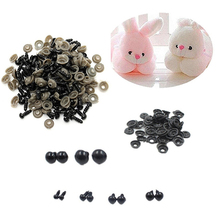 100 Pcs Black Plastic Toy Eyes Safety DIY 6-14mm for Teddy Bear Animal Dolls Store 34