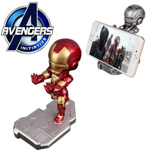 Iron Man Super Hero Avengers Mobile Phone Holder for Samsung S6 Mini Desk Stand for iPhone 6 Lovely Phone Stand Holder