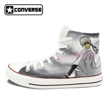Gintama Anime Converse Chuck Taylor Mens Womens Shoes Hand Painted High Top Sneakers Man Woman Cosplay Best Gifts(China)