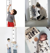 Buy Scandinavian Style Baby Child Kids Height Ruler Growth Size Chart Height Measure Ruler Wall Sticker Room Home Decoration INS for $4.99 in AliExpress store