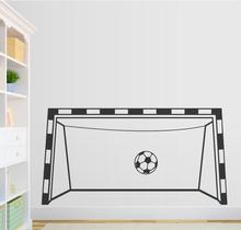 Creative Soccer Goal Wall Decal Playroom Decor Vinyl Wall Stickers Goal Custom Color Available Decals Decor Living Room ZA686