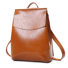 Women Vintage Backpack Designer High Quality Leather Backpacks For Teenage Girls Sac A Main Female School Tophandle Shoulder Bag(China)