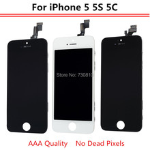AAA Quality Screen For iPhone 5 5S 5C Display Screen LCD Assembly With Digitizer Glass Assembly No Dead Pixel