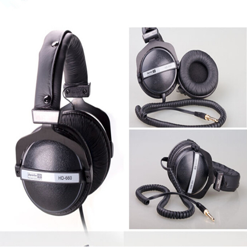 Superlux HD660 Dynamic Closed HIFI Stereo Headphone Professional Studio DJ Monitoring Headphone Noise Isolating Earphone Headset<br>