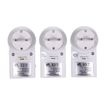 EU 3 Pack Wireless Remote Control Power Outlet Light Switch Plug Socket Free Shipping L3EF