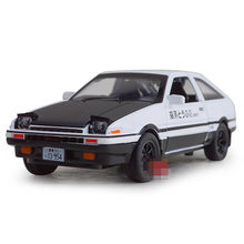 Free Shipping/Diecast Toy Model/1:28 Scale/Initial D Toyota AE86 Car/Pull Back/Sound & Light Car/Educational Collection/Gift(China)