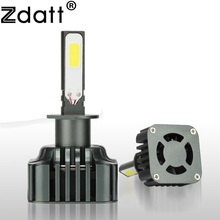 Zdatt 2Pcs 360 Degree Lighting Super Bright Car Led Headlight H1 Led Bulb Auto 100W 12000Lm 6000K White 12V 24V Automobiles