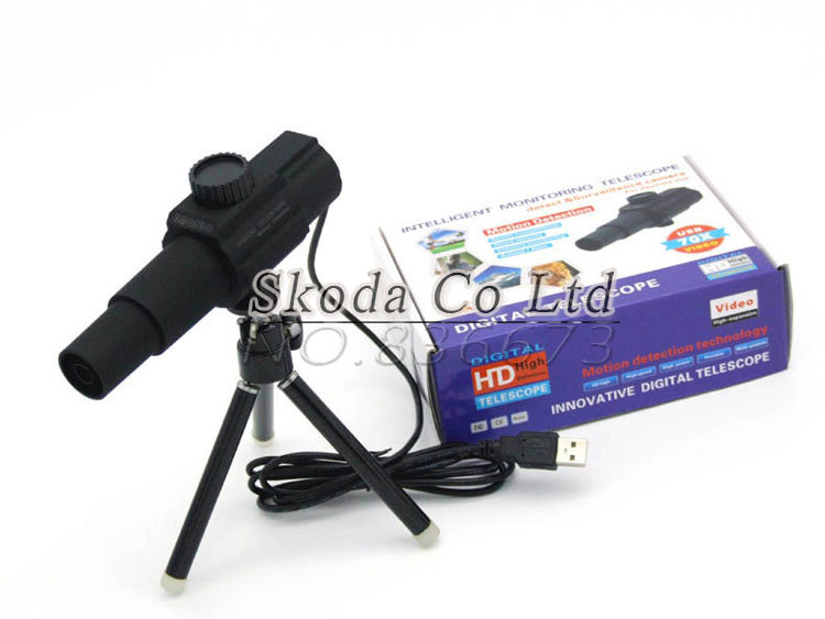 Free shipping Newest USB Digital Telescope Remote Surveillance Camera 2.0MP 70X Zoom movement detection Monitor, camera, video<br>