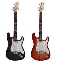 High Quality Single Tremolo Electric Guitar Guitarra Solid Basswood Body Rosewood Fingerboard Steel String with Bag Picks Strap(China)