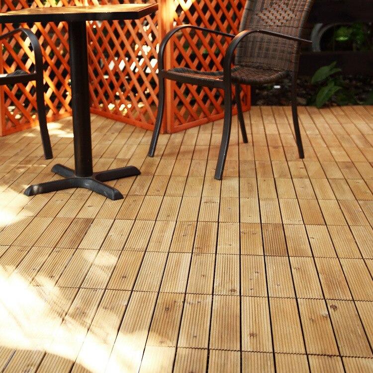 303027cm Interlocking Flooring Tiles In Solid Teak Wood Suitable