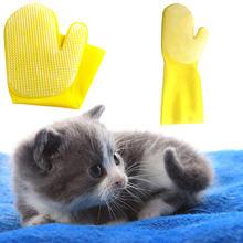High Quality Latex Pet Dog cat Hair Removal Bath Glove Grooming Cleaning Brush for chihuahua Long sleeve dog bath brush