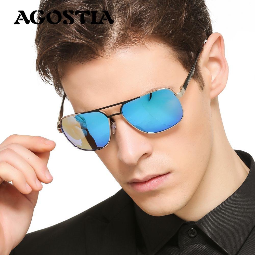 2016 New Arrival Agostia Polarized Sunglasses Men Brand Designer Male vintage Sun Glasses gafas oculos de sol masculino<br><br>Aliexpress