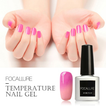 FOCALLURE Temprature LED UV Soak-off Gel Lacquer Varnish UV Nail Gel Polish 7ML UV GEL For Nail Art Gel Nail Polish(China)