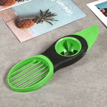 Portable 3-in-1 Safety Avocado Slicer Peeler Skinner Corer Plastic Fruit Cutter Cooking Tools Durable Blade Kitchen Accessories
