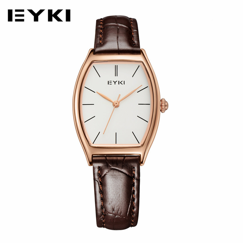 EYKI Women Dress Leather Strap Wristwatch Business Casual Waterproof Quartz Watch Reloj Mujer Fashion Female Watches 2016<br><br>Aliexpress