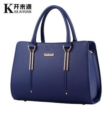100% Genuine leather Women handbags 2017 new bag handbag female sweet lady styling fashion handbags Messenger Shoulder Handbag(China)