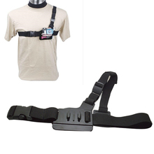 Adjustable Light Weight 3 Points Elastic Chest Harness Belt Strap Mount for SJ SJ4000/SJ5000 Gopro Hero 4 3 2 1 Xiaomi Yi etc