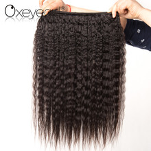 Buy Oxeye girl Kinky Straight Hair 3 Bundles 100% Human Hair Brazilian Hair Weave Bundles Nonremy Yaki Hair Extensions Mixed Length for $43.51 in AliExpress store