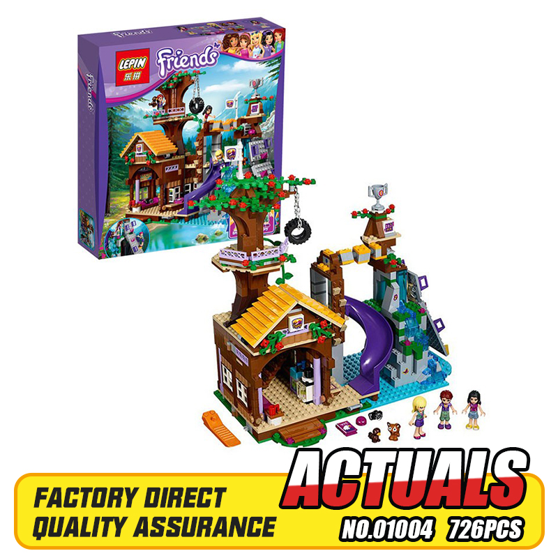 LEPIN 01004 726Pcs Friends Adventure Camp Tree House Building Block Kits Blocks Bricks Girl Toys 41122<br>