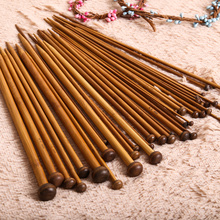 Buy 36pcs Knitting Needles set Carbonized Bamboo Needle Single Smooth Crochet Hooks Knit Needles Weave Craft Yarn Sewing Tools for $6.47 in AliExpress store