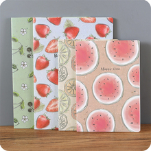 4 pcs/lot Sweet Summer Juicy Fruit Notebook Diary Book Schedule Book Scratch Notepad Escolar Papelaria Stationery(China)