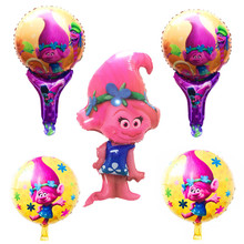 Buy QGQYGAVJ 5pcs Trolls balloons balloons helium foil balloon metallic balons infantil wedding balloon baby shower for $3.58 in AliExpress store