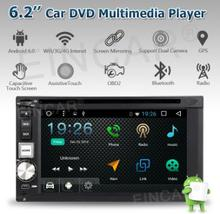 6.2'' HD Touch Screen In Dash GPS Android 6.0 Car Player Double din 2 Din Car Head unit Stereo Auto Radio with free 4G dongle(China)