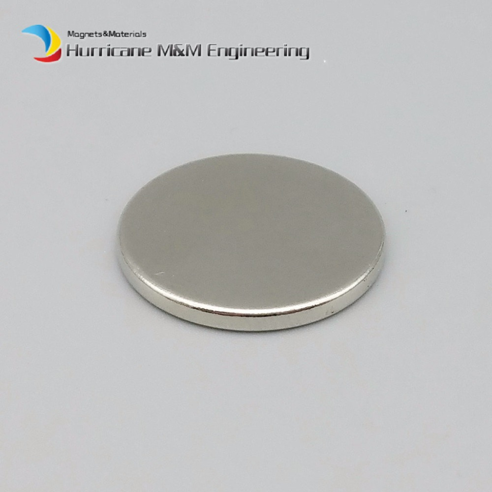 1 pack Dia. 20x2 mm Strong magnet NdFeB Disc Magnet Neodymium Permanent Magnets Grade N35 NiCuNi Plated Axially Magnetized<br>