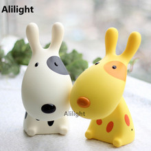 Colorful Love Dog Night Light Children Beside Table Desk LED Reading Night Lamp Cartoon Animal Kids USB Indoor Lighting Decor