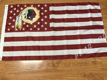 Washington Redskins logo flag 3ftx5ft 100D polyester banner flag free shipping(China)