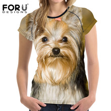 Buy FORUDESIGNS 3D Shih Tzu Dog Prints Women Summer T Shirt Elastic Woman Tops Fashion T-shirt Girls Female Tees Brand Clothes for $14.99 in AliExpress store
