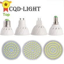 CQD-LIGHT Bright E27 E14 MR16 GU10  LED Bulb 110V 220V Bombillas LED Lamp Spotlight 48 60 80 LED 2835SMD Lampara SpotLight