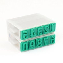 SOSW-Plastic Rubber Wide 0-9 Digits Combination Number Stamp for Teachers(China)