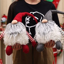 Handmade Swedish Christmas tomte/nisse Santa Claus Decoration Plush Xmas Funny Gnome Plush-Christmas Kids Gift USA Shipping(China)